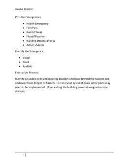 RL Evacuation Plan